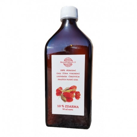 Goji - Kustovnice čínská 100% přírodní šťáva 500 ml
